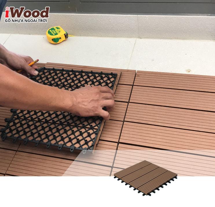 vỉ gỗ nhựa iWood DT300x300 Wood 5