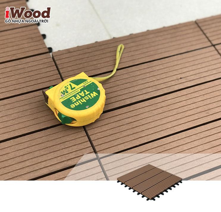 Thi công vỉ gỗ iWood Dt300x300 Wood 4
