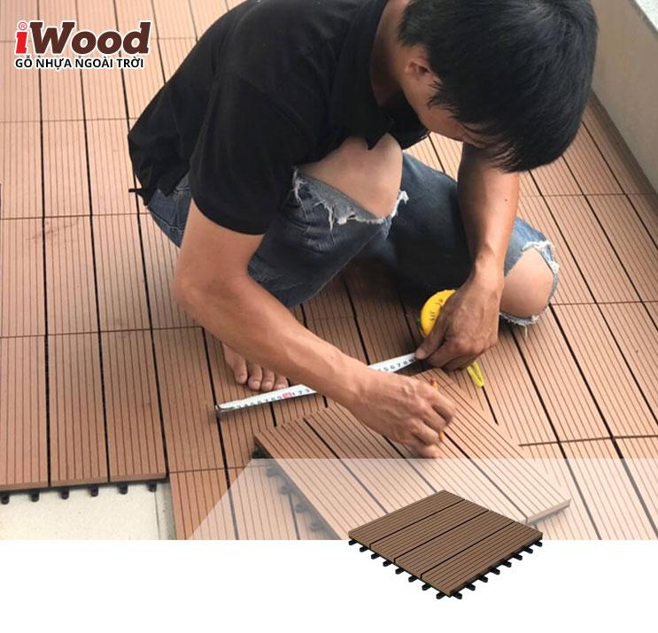 thi công vỉ gỗ iWood DT300x300 Wood 2