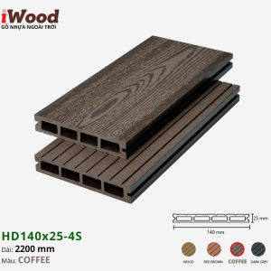 sàn gỗ iWood HD140x25-4s coffee 1