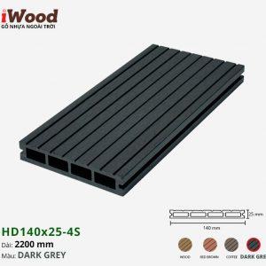 sàn gỗ nhựa iWood HD140x25-4s dark grey