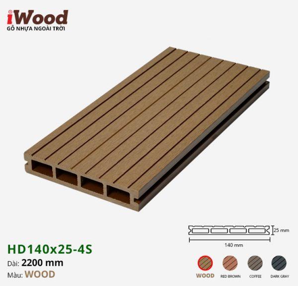 sàn gỗ nhựa iWood HD140x25-4s wood