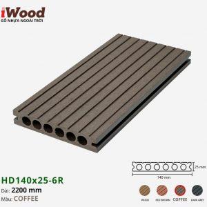 sàn gỗ nhựa iWood HD140x25-6r Coffee