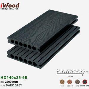 sàn gỗ nhựa iWood HD140x25-6r dark grey 1