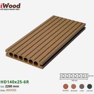 sàn gỗ nhựa iWood Hd140x25-6r Wood