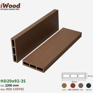thanh lam iWood HD20x92-3S Red Coffee 1