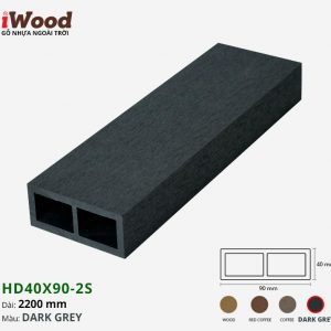 thanh lam iWood HD40x90-2S Dark Grey