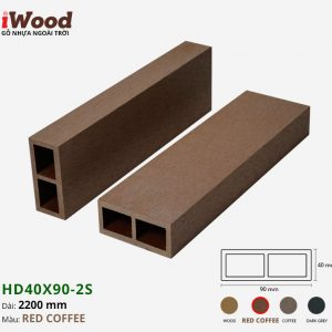 thanh lam iWood Hd40x90-2S Red Coffee 1