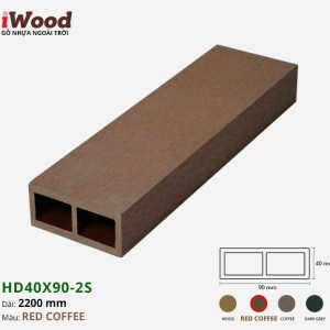 thanh lam iWood HD40x90-2s Red Coffee