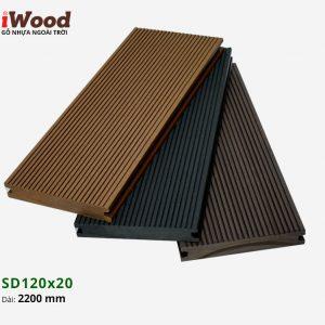 sàn gỗ nhựa iWood SD120x20 Dark Grey 2