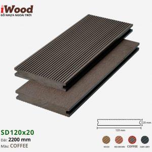 sàn gỗ nhựa iWood SD120x20 coffee 1