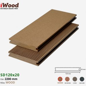 sàn gỗ nhựa iWood SD120x20 Wood 1