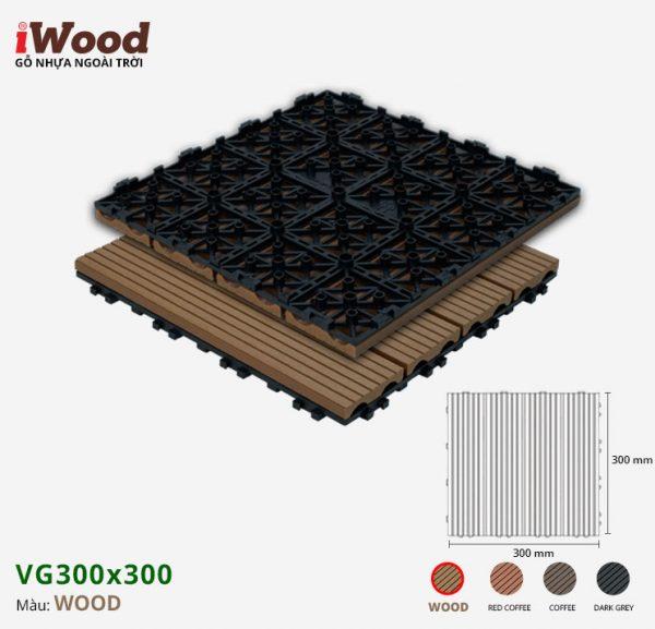 vỉ gỗ nhựa iWood VG300x300 Wood 1