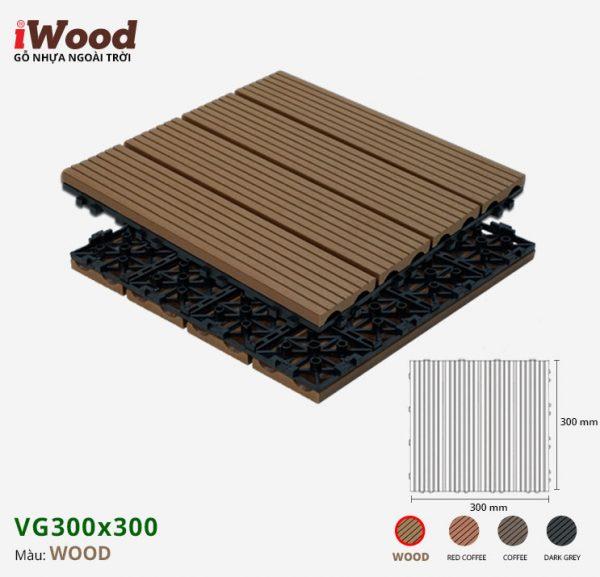 vỉ gỗ nhựa iWood VG300x300 Wood 2