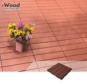 thi công vỉ gỗ nhựa iWood Vn300 red brown MT 1