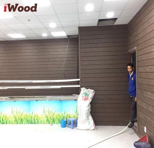 iwood ốp tường trong nhà