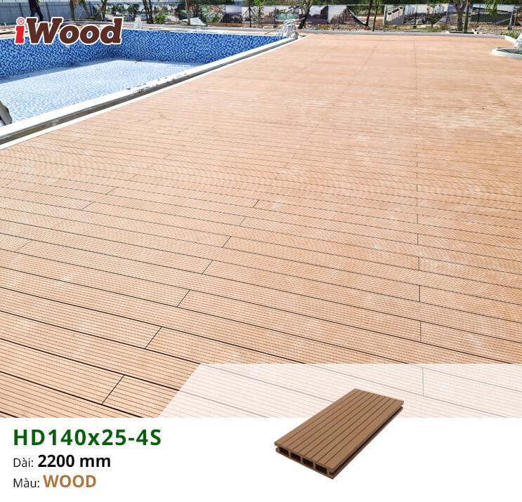 Thi công gỗ nhựa lót sàn hồ bơi