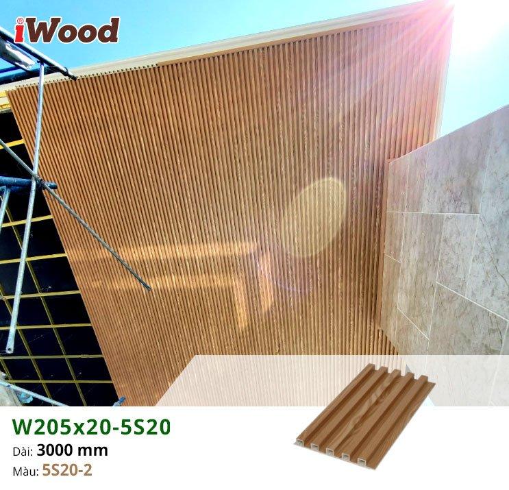 Hình ảnh thực tế tấm ốp nhựa W5S20-2 mẫu 9m