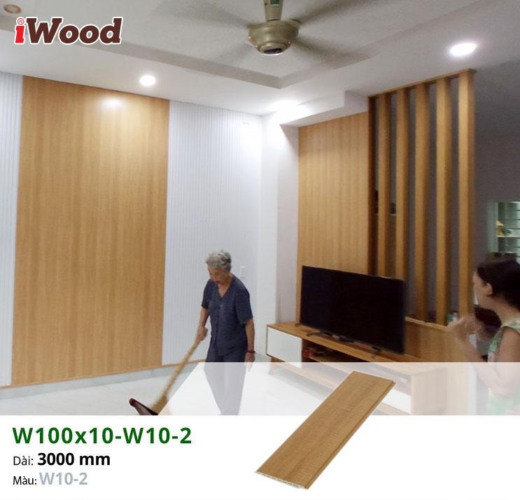 Thi công tấm ốp tường iWood W100x10-W10-2 tại quận 9
